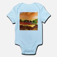 funny cheeseburger Body Suit