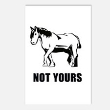 Not your pony Postcards (Package of 8)
