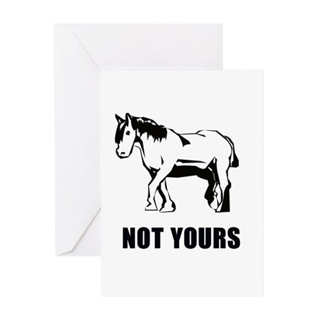 Not your pony Greeting Card