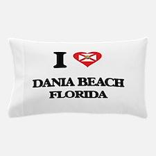 I love Dania Beach Florida Pillow Case