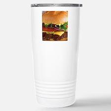 funny cheeseburger Stainless Steel Travel Mug