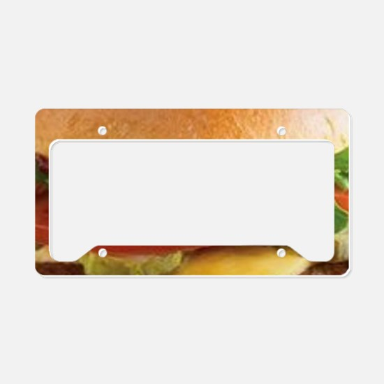 funny cheeseburger License Plate Holder