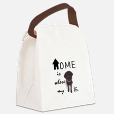 Home is Where My (dog) is Canvas Lunch Bag