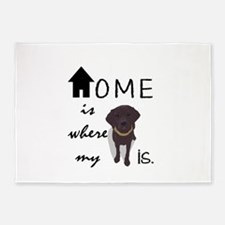 Home is Where My (dog) is 5'x7'Area Rug