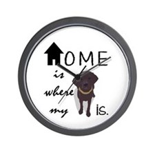 Home is Where My (dog) is Wall Clock