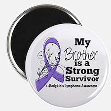 "Brother Hodgkins Lymphoma 2.25"" Magnet (100 pack)"
