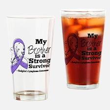 Brother Hodgkins Lymphoma Drinking Glass