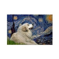 Starry Night Great Pyrenees Rectangle Magnet