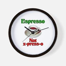 Espresso Not x-press-o Wall Clock