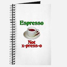 Espresso Not x-press-o Journal