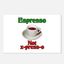 Espresso Not x-press-o Postcards (Package of 8)