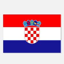 Croatia Flag Postcards (Package of 8)