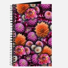 Bright Pink Dahlias Collage Journal