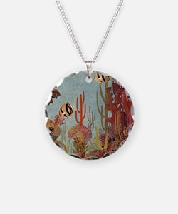 Vintage Tropical Fish and Co Necklace