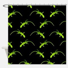 Gecko Pattern Shower Curtain
