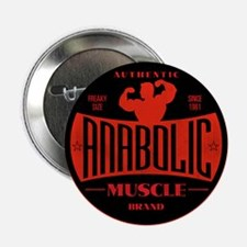 RETRO MUSCLE LOGO Button