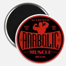 RETRO MUSCLE LOGO Magnet