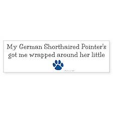 Wrapped Around Her Paw (German SH Pointer) Bumper Sticker