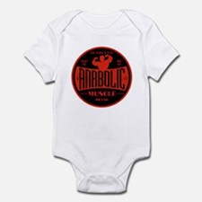RETRO MUSCLE LOGO Infant Bodysuit