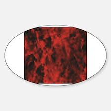 Unique Red mist Sticker (Oval)