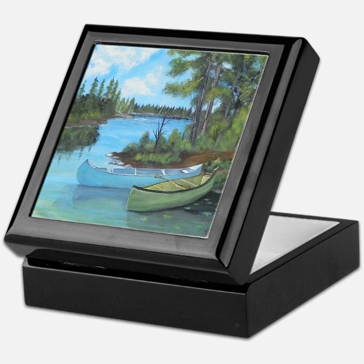 Canoe Painting Keepsake Box