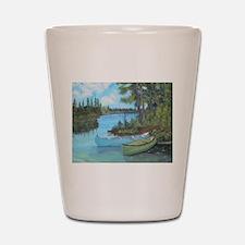 Canoe Painting Shot Glass
