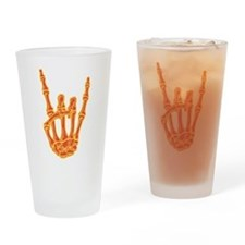 Bony Rock Hand Color Drinking Glass