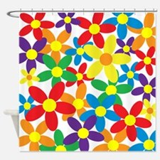 Flowers Colorful Shower Curtain