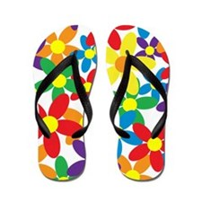 Flowers Colorful Flip Flops