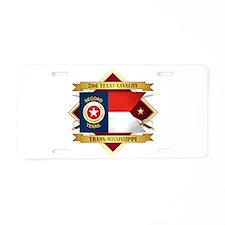 2nd Texas Cavalry Aluminum License Plate