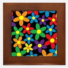 Flowers Colorful Framed Tile