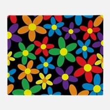 Flowers Colorful Throw Blanket