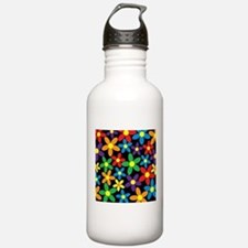 Flowers Colorful Sports Water Bottle