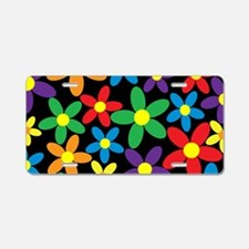 Flowers Colorful Aluminum License Plate