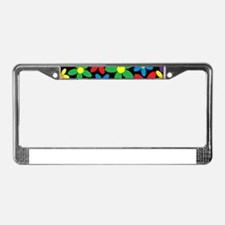 Flowers Colorful License Plate Frame