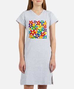 Flowers Colorful Women's Nightshirt