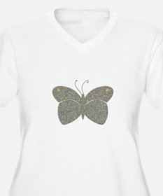silver butterfly Plus Size T-Shirt