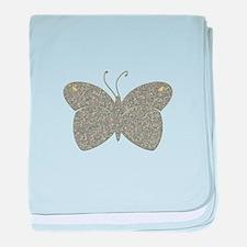 silver butterfly baby blanket
