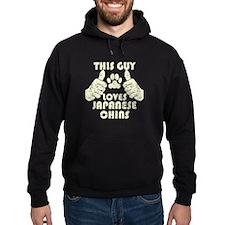 This Guy Loves Japanese Chins Hoodie