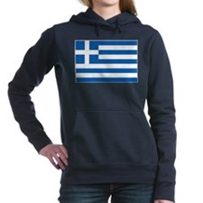 Greece Flag Women's Hooded Sweatshirt