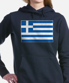 Greece Flag Women's Hooded Sweatshirt