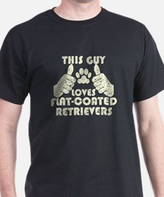 This Guy Loves Flat-Coated Retrievers T-Shirt