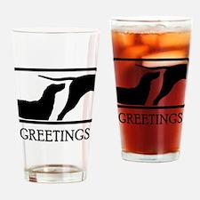 Plott Hound Drinking Glass