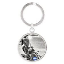 yes motorcycle Round Keychain