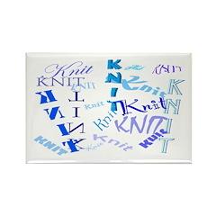 Knit Blue Light Rectangle Magnet (100 pack)