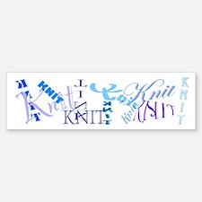 Knit Blue Light Bumper Bumper Bumper Sticker