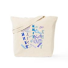 Knit Blue Light Tote Bag
