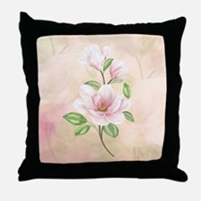 Magnolia Flower Blossom Throw Pillow