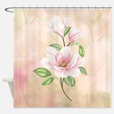 Magnolia Flower Blossom Shower Curtain