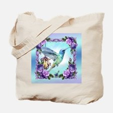 Watercolor Hummingbird And Rose Tote Bag